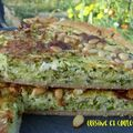 Quiche aux courgettes rpes 