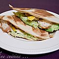 Quesadillas au poulet, avocat, mangue et emmental & Comment je me suis mise au jogging