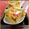 Tortilla espagnole au poivron et chorizo