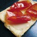 tarte aux peaux de tomates et marjolaine