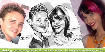caricatures de chats mariage - Caricaturiste Mariage