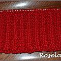 Roselaine314 écharpe rouge