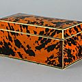 Beautiful 19th century blond tortoiseshell and ivory box