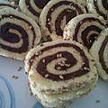 Gâteaux roulés au semoule et dattes