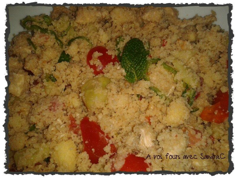 Salade de semoule et poulet