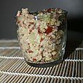 Taboulé quinoa concombre et tomate