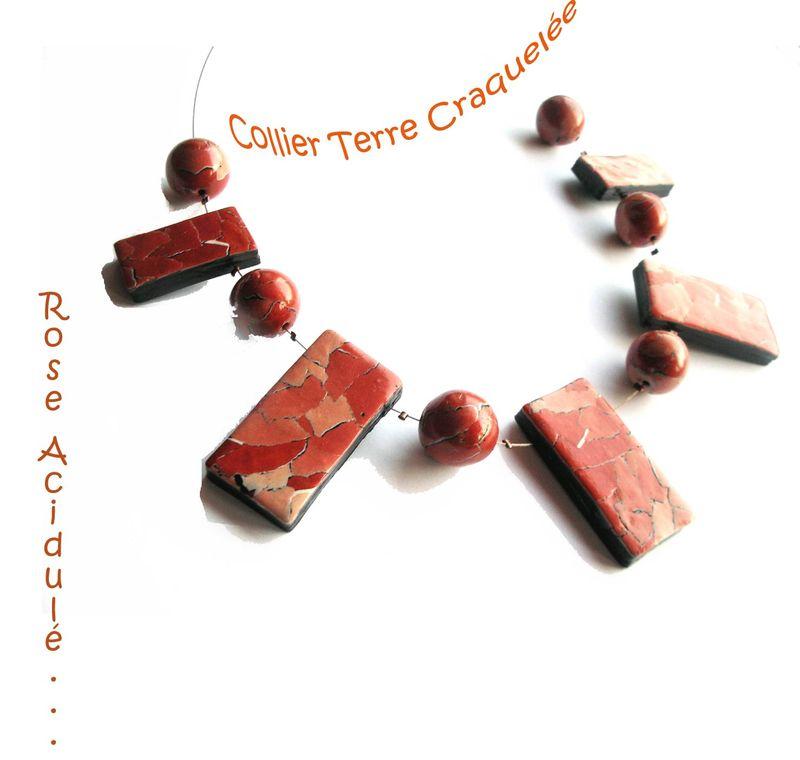 Collier Terre Craquelée
