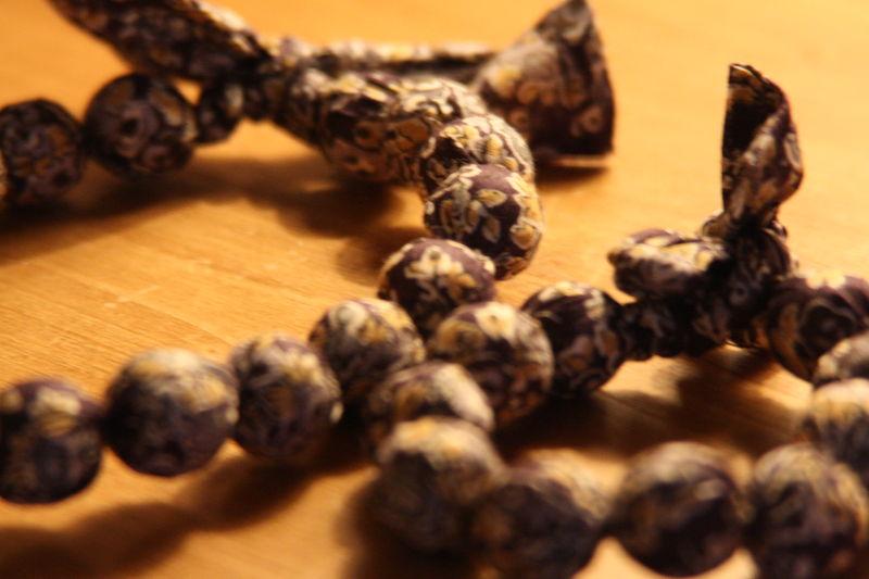 Collier en bracelet en liberty tatum prune