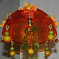 Suspension décorative Orange