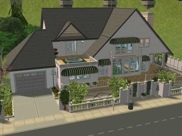 Villa grandiose 1 maisons deco sims2 for Decoration maison sims 4