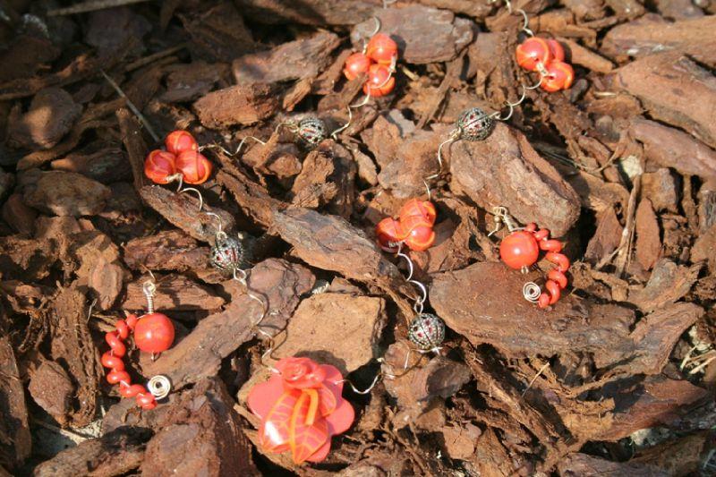 parure (12) orange fleurs
