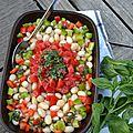 Salade de mogettes à l'andalouse
