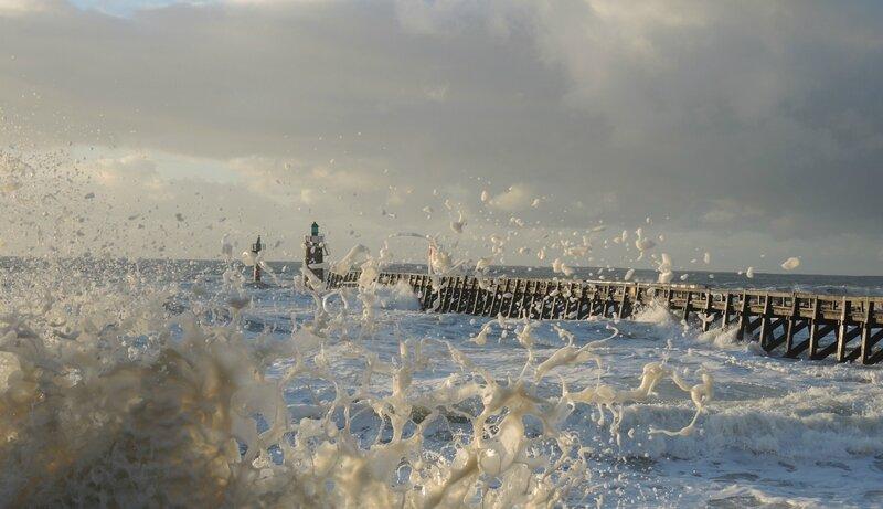 Capbreton, grandes marées, écume, février 2014 (40)