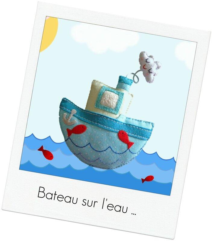 doudou bateau sur l'eau 2