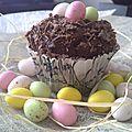 Cupcakes au chocolat pour pâques