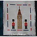 Londres brodé par Christiane