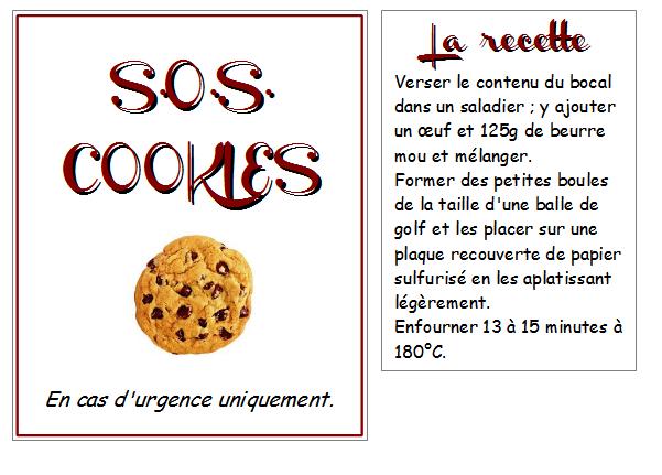 Berühmt SOS Cookies, la recette - Les Quatre feuilles du Trèfle de ma Vie JS99