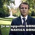 Et dire que ce type a le culot de se présenter devant les français c'est une abomination de plus pour mon pays