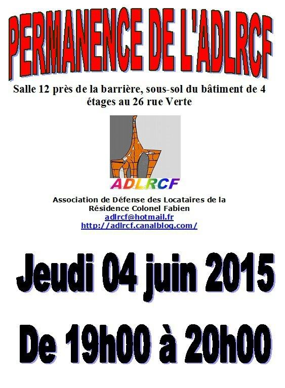 permanence ADLRCF juin 2015