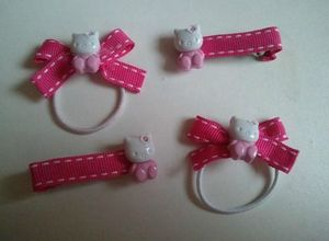 barrettes hello kitty