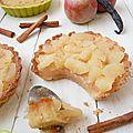 Tartelettes en crumble à la pomme (épicée à la vanille et cannelle)
