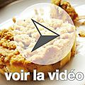 Crumble ajours poire/banane - une recette Guy Demarle en vido