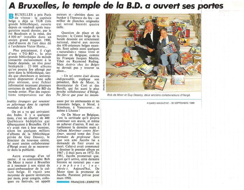 Ouverture du Centre belge de la BD