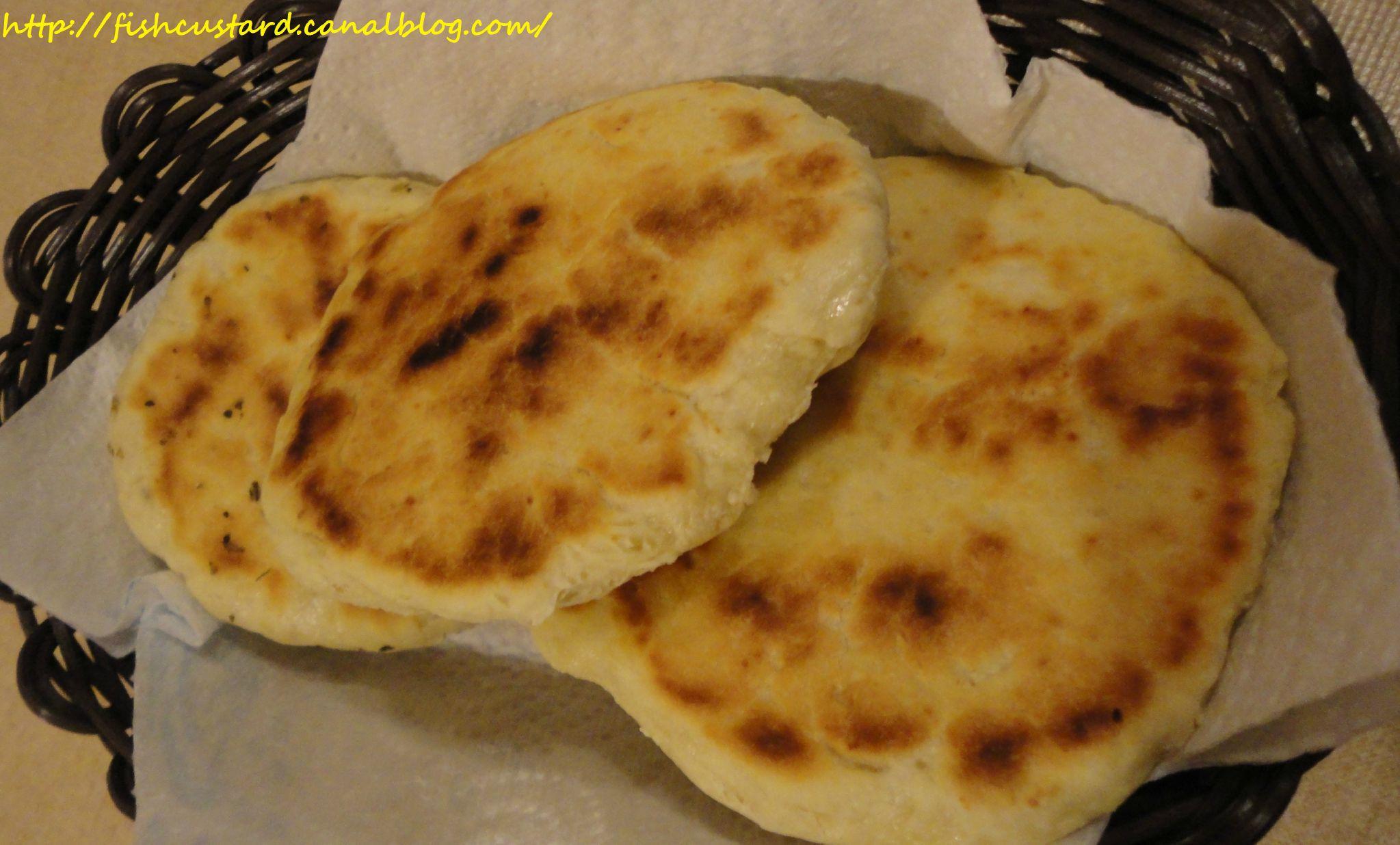 Pain bannique pain am rindien fish custard - Recette pain sans levure ...