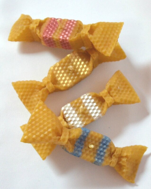papillotes bougies couleurs