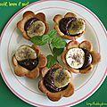 Tartelettes chocolat, banane et pavot / корзиночки с шоколадом, бананом и маком