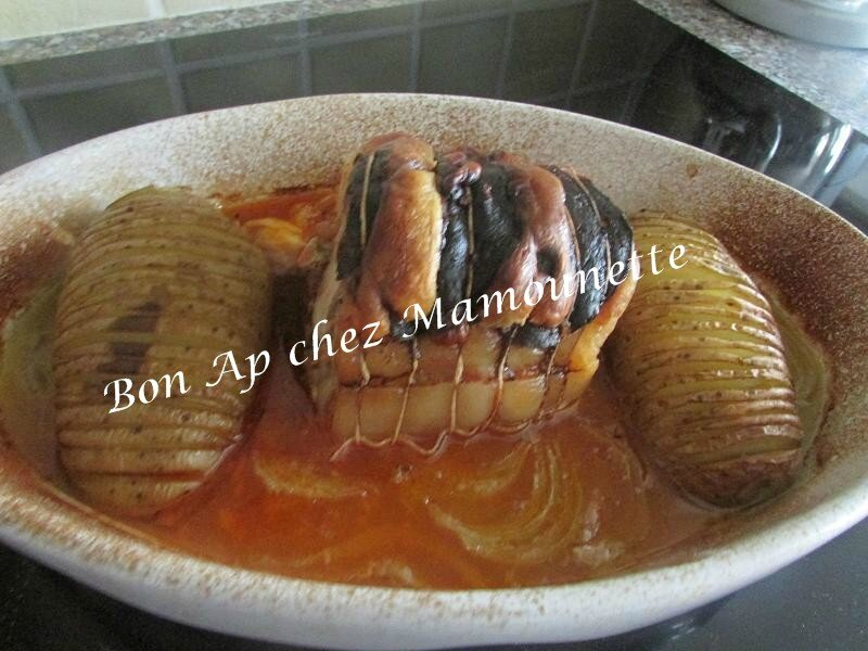 rôti de porc au chorizo et sa pomme de terre entaillée 001