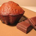 Muffin au coeur fondant de chocolat