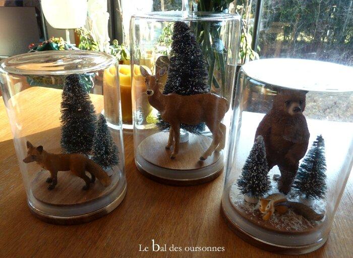 95 Blog Cloche Décoration Sous bois Ecureuil Biche Renard Noël Sapin