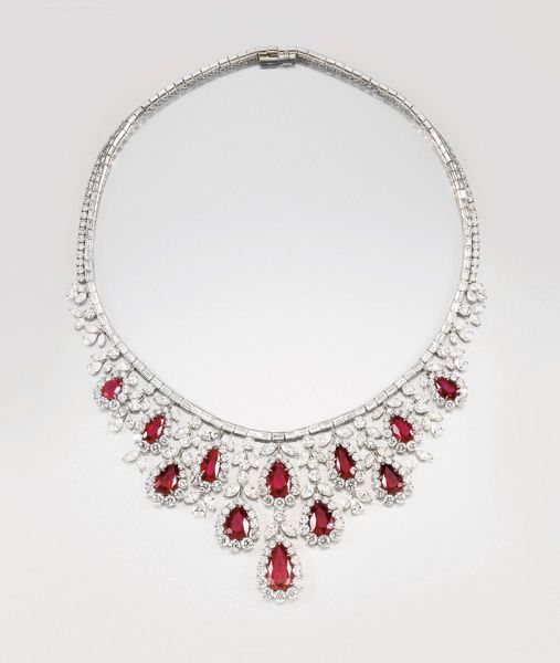 harry winston a magnificent unheated burmese ruby and
