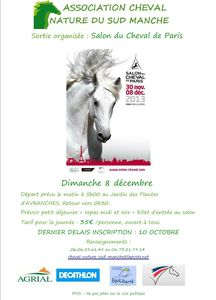 affiche salon du cheval