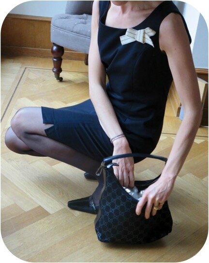 Défi Paris robe noire portée 3