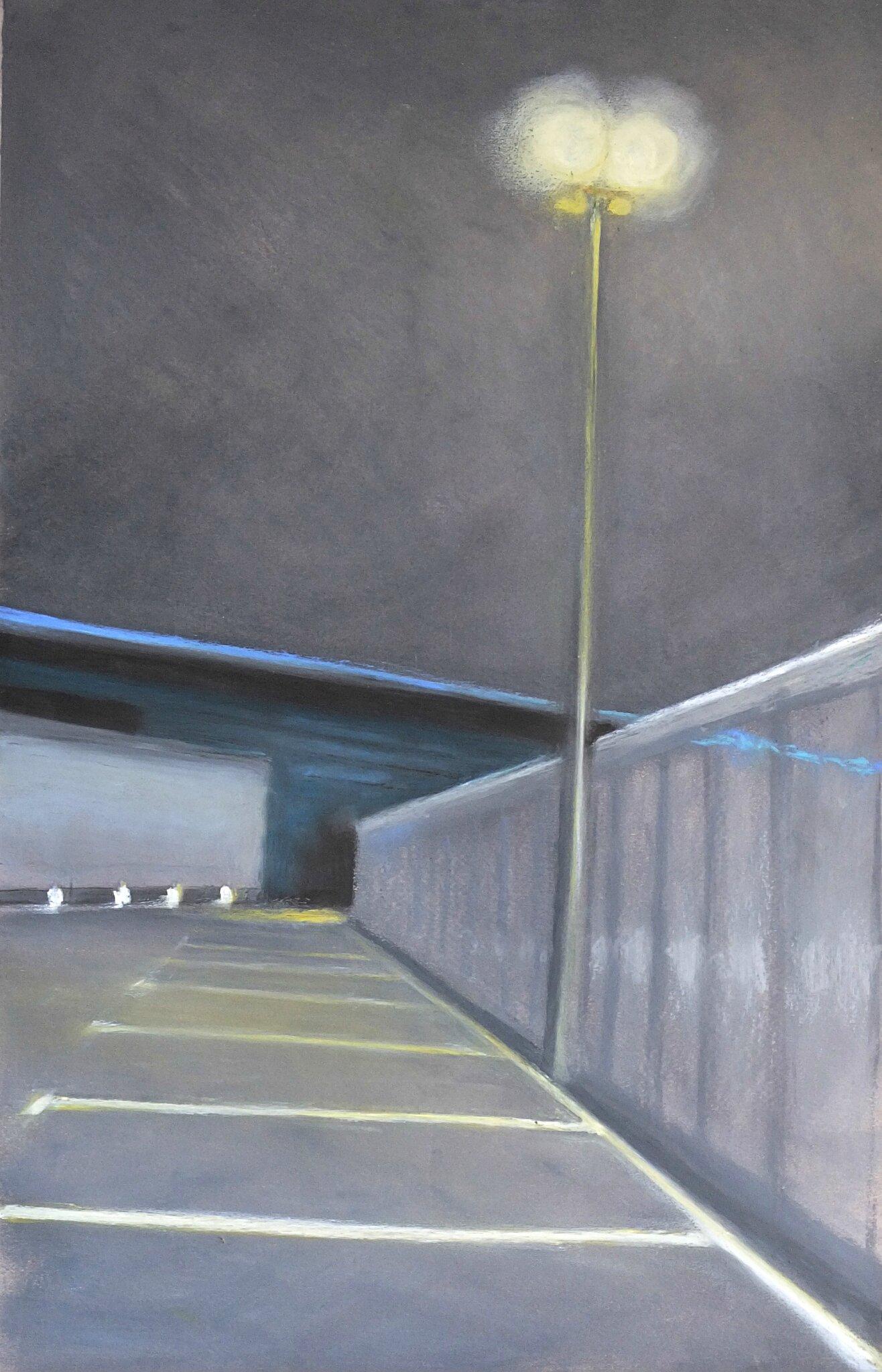 K'nowhere #34, 2014, pastel à l'huile. 32 x 48 cm.