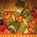 Légumes farçis et caviar de courgettes