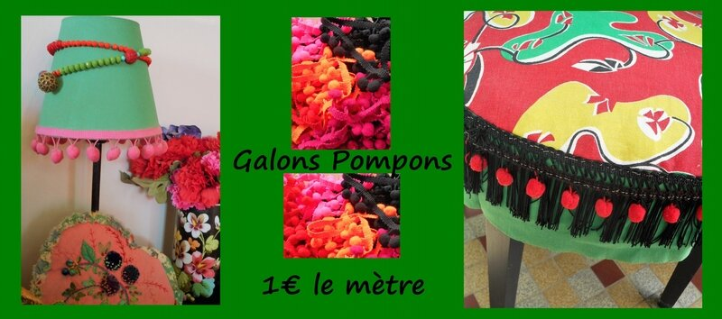 galons pompons 1€
