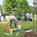 La pose de notre plaque commémorative 13 août 2008