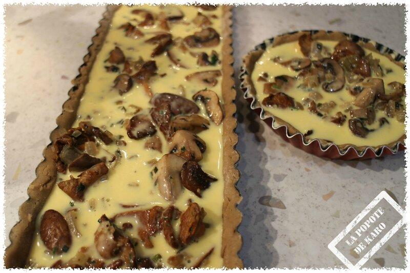 tartes aux champignons avt cuisson