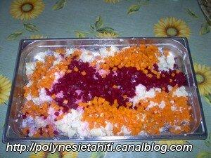 Pommes de terre carottes betraves