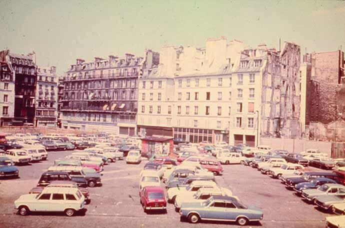Parking ilôt Saint-Merri vers 1960