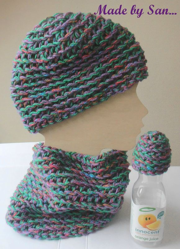 ensemble bonnet snood enfant
