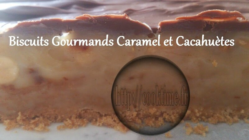 Biscuits Gourmands Caramel et cacahuètes au Thermomix 7