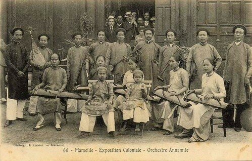 14. Exposition Coloniale Marseille 1906 Orchestre annamite.