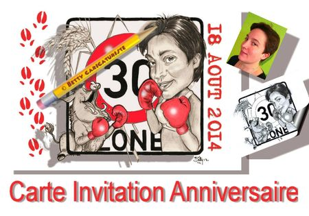 carte d 39 invitation un anniversaire 30 ans dessins. Black Bedroom Furniture Sets. Home Design Ideas