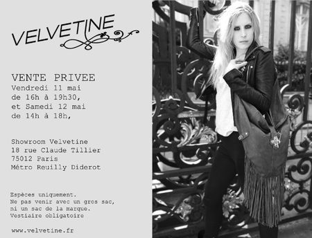 INVITATION VP VELVETINE mai 2012