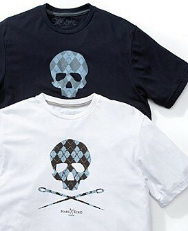Marc Ecko Cut & Sew Argyle Skull Tee
