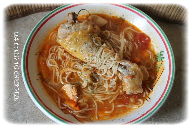 Soupe nouilles poulet 6